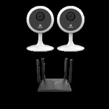 Видеонаблюдение EZVIZ C1C (2 шт) + W3